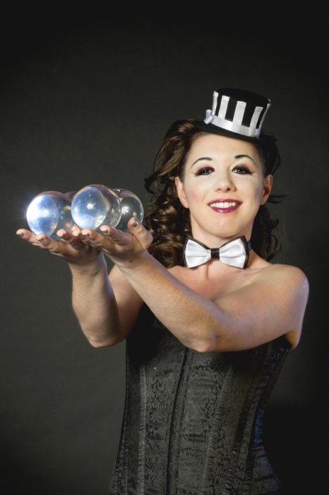 Miss Dotty - Contact Ball Juggler Gallery