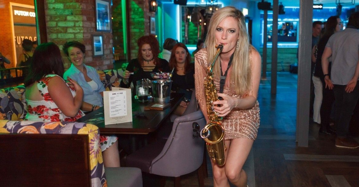 Abi Plays Sax