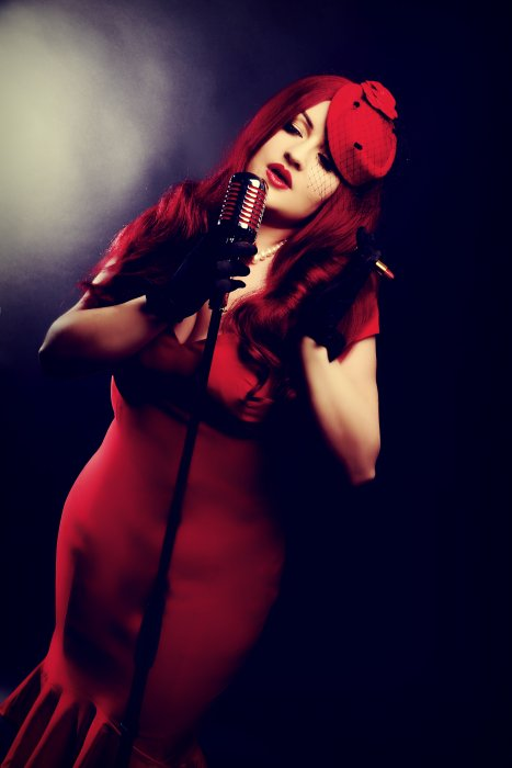 Miss Ruby Rouge - Vintage Singer Gallery