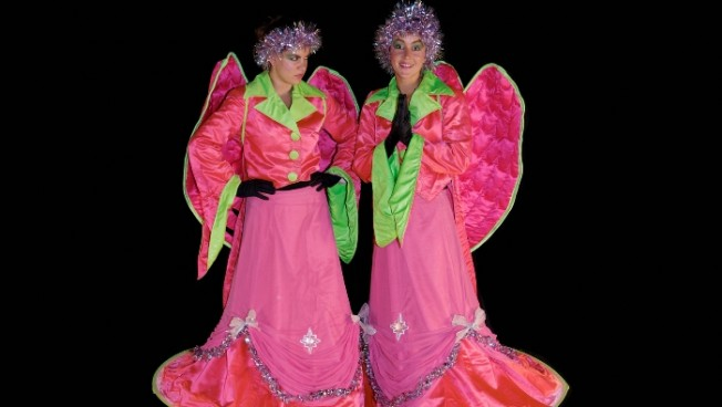 Pink Angels Comedy Stilt Walkabout